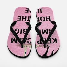 Keep Calm, Smile Big Horse Show Flip Flops