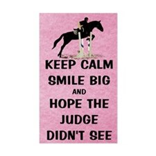 Keep Calm, Smile Big Horse Sho Decal