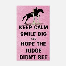Keep Calm, Smile Big Horse Sho Decal