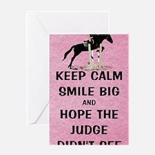 Keep Calm, Smile Big Horse Show Greeting Card