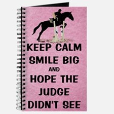 Keep Calm, Smile Big Horse Show Journal