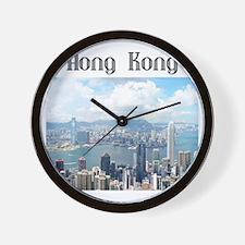 HongKong_19x19_HongKongFromVictoriaPeak Wall Clock