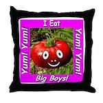 I Eat Big Boys! Throw Pillow