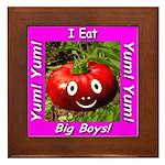 I Eat Big Boys! Framed Tile
