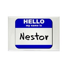 hello my name is nestor Rectangle Magnet