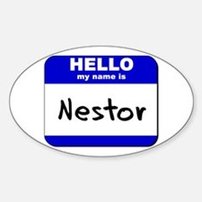 hello my name is nestor Oval Decal