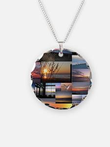 Sunrise/Sunset collage Necklace