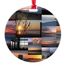 Sunrise/Sunset collage Ornament