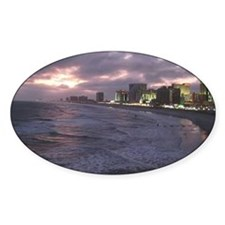 Sunset in Atlantic City Decal
