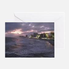 Sunset in Atlantic City Greeting Card