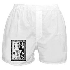 Djembe mask black and white Boxer Shorts