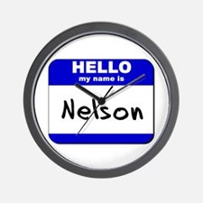 hello my name is nelson  Wall Clock