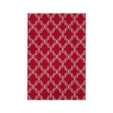 Moroccan TnT 5x7 W Dk Berry Red Rectangle Magnet