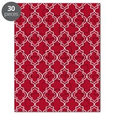 Moroccan TnT 5x7 W Dk Berry Red Puzzle