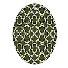 Moroccan TnT 5x7 W Dk Olive Oval Ornament