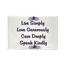 Optimism and Love Rectangle Magnet (10 pack)