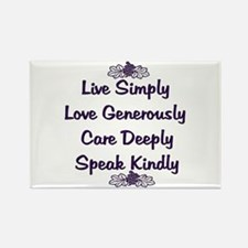 Optimism and Love Rectangle Magnet (100 pack)