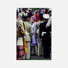 Queen Elizabeth of England review Rectangle Magnet