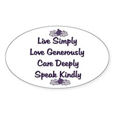 Optimism and Love Oval Decal