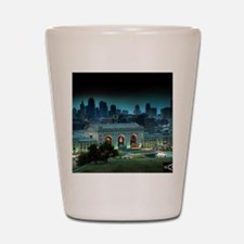 Union Station Kansas City at night Shot Glass