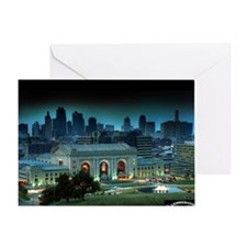 Union Station Kansas City at night Greeting Card