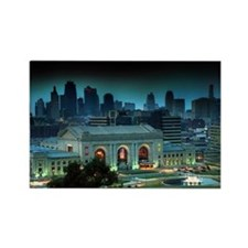Union Station Kansas City at nigh Rectangle Magnet