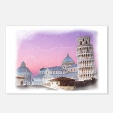 Leaning tower of Pisa Postcards (Package of 8)