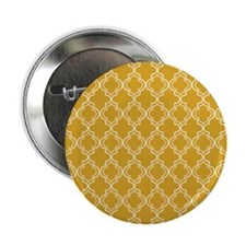 "Moroccan Tile in Tile Sq W Gold 2.25"" Button"