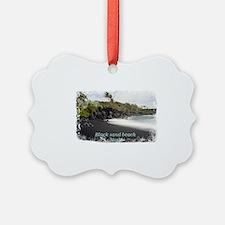 Black sand beach Ornament