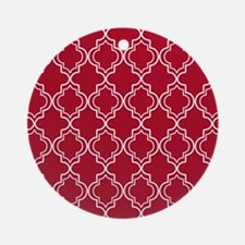 Moroccan TnT SB W Dk Berry Red Round Ornament
