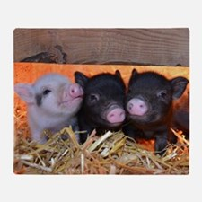 Three Little Piggies Throw Blanket