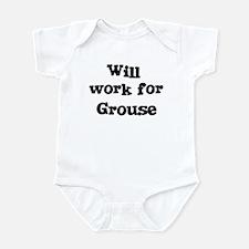 Will work for Grouse Infant Bodysuit