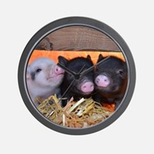 Three Little Piggies Wall Clock