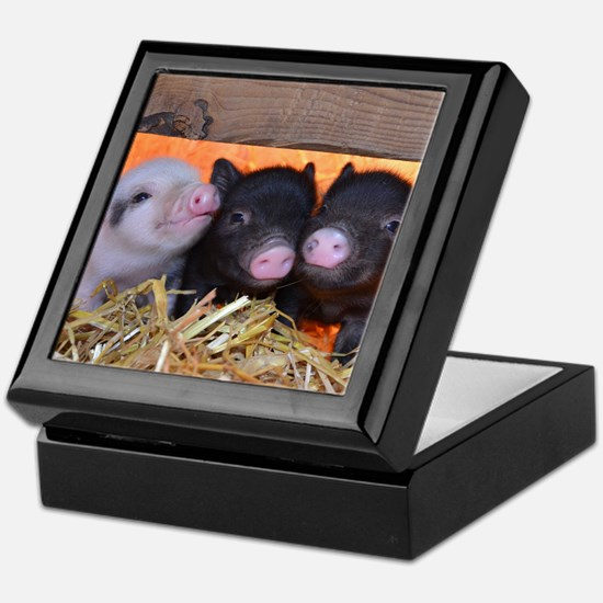 Three Little Piggies Keepsake Box