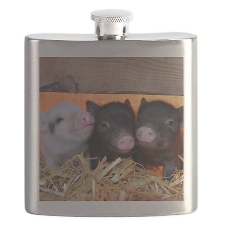 Three Little Piggies Flask