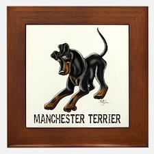 Manchester Terrier - Button Ears Framed Tile