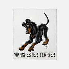 Manchester Terrier - Button Ears Throw Blanket