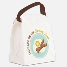 I LIVE LIFE ON THE Sunny Side Canvas Lunch Bag