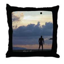 Maui Locals and Beach Volley Ball Throw Pillow