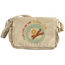 I LIVE LIFE ON THE Sunny Side Messenger Bag