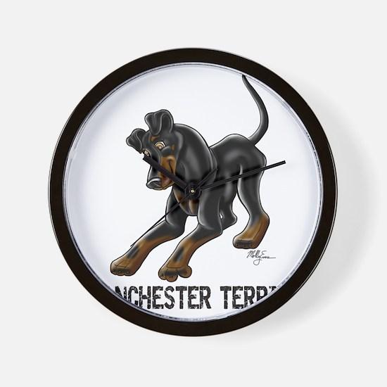 Manchester Terrier - Button Ears Wall Clock