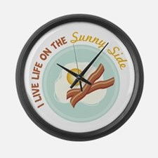 I LIVE LIFE ON THE Sunny Side Large Wall Clock