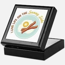 I LIVE LIFE ON THE Sunny Side Keepsake Box