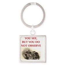 sherlock holmes quote Square Keychain
