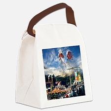 Pope John Paul II  Mass in the He Canvas Lunch Bag