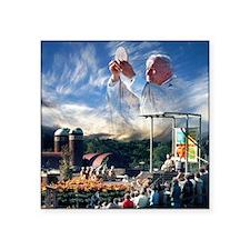 """Pope John Paul II  Mass in  Square Sticker 3"""" x 3"""""""