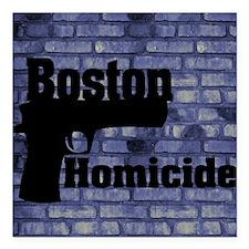 """King Duvet Boston Homici Square Car Magnet 3"""" x 3"""""""