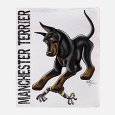 Manchester Terrier - Cropped Throw Blanket