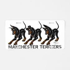3 Standard Manchesters Aluminum License Plate