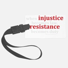 Injustice Resistance Luggage Tag